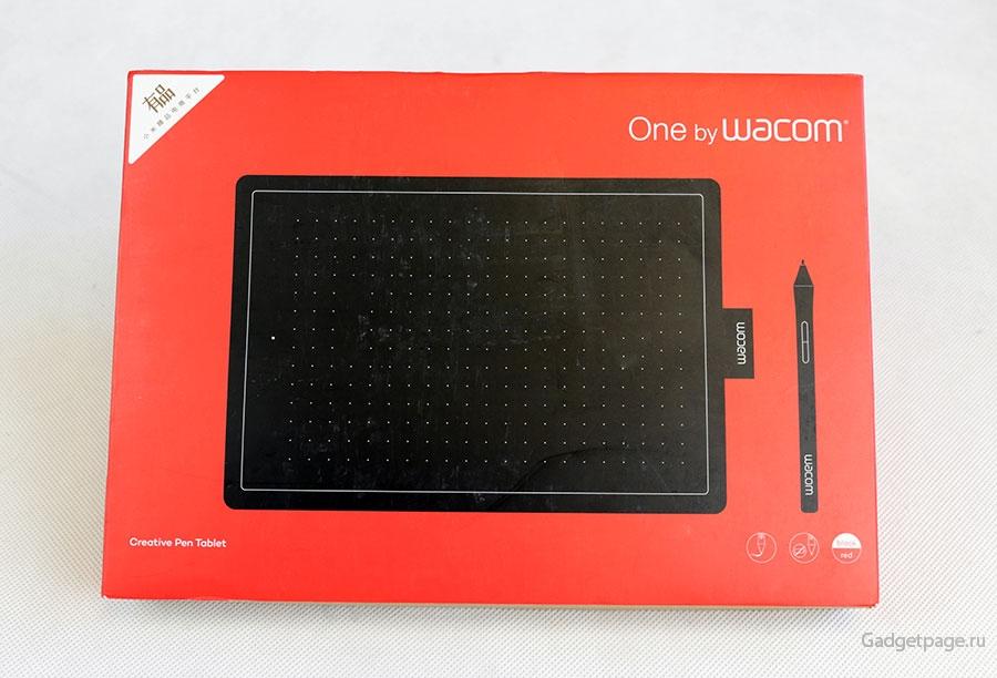 Распаковка графического планшета Wacom One Medium CTL-672 живые